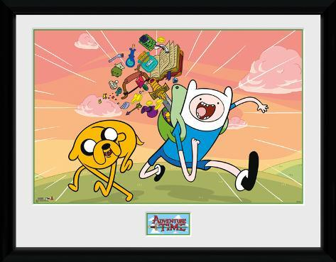 Adventure Time- Finn And Jake Excited Collector Print