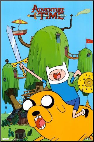 Adventure Time - Finn & Jake Mounted Print