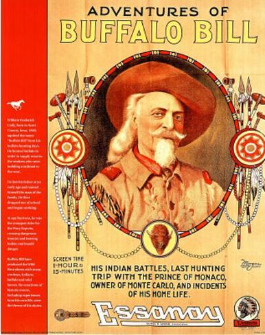 Adventures Of Buffalo Bill Wild West Mini Poster