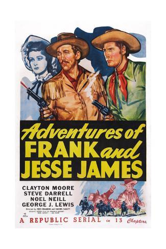 Adventures of Frank and Jesse James Giclee Print