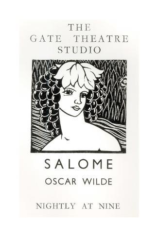 Advertisement for a Performance of Salome, by Oscar Wilde Giclée-vedos