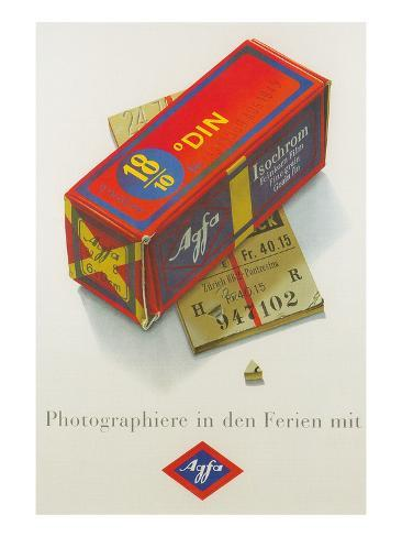 Advertisement for German Color Film アートプリント