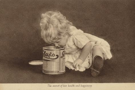 Advertisement for Glaxo Baby Food Valokuvavedos