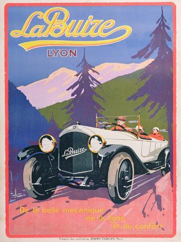 Advertisement for La Buize Automobiles, C.1920 Giclee Print