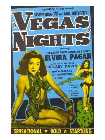 Advertisement for Las Vegas Movie, Nevada Art Print