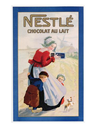 Advertisement for Nestle Chocolat Au Lait, C.1920 (Colour Litho) Giclee Print