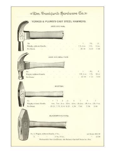 Advertisement for Steel Hammers Art Print