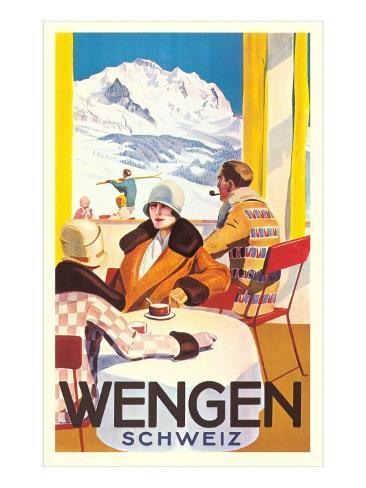Advertisement for Swiss Ski Resort Art Print