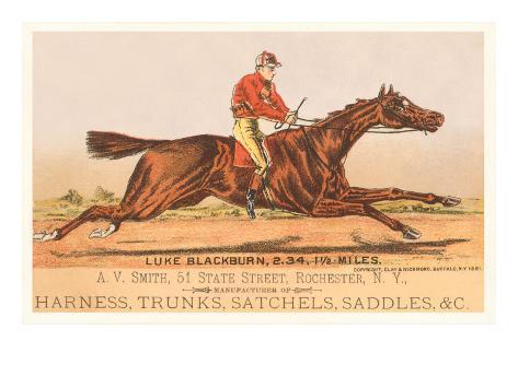 Advertisement for Tack, Steeplechase Art Print