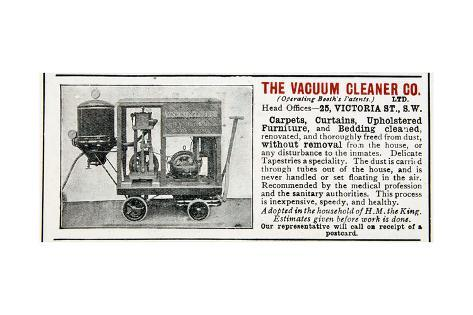 High Quality Advertisement For The Vacuum Cleaner Company, 1906 Giclee Print At  AllPosters.com