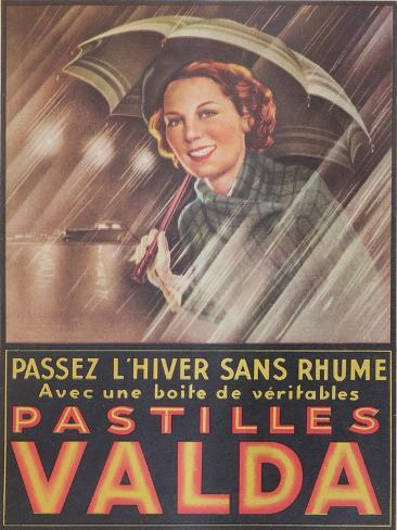 Advertisement for 'Valda' Pastilles, Published in 'Marie-Claire' Magazine, 7th January 1938 Stampa giclée