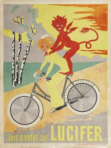 Advertising Poster for Lucifer Bicycles Lámina giclée