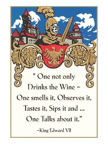 Advice on Wine Drinking, Medieval Art Print