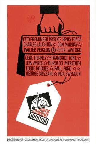 Advise And Consent, 1962, Directed by Otto Preminger Giclee Print