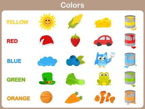 Learning The Object Colors For Kids Posters By Aekikuis At Allposters