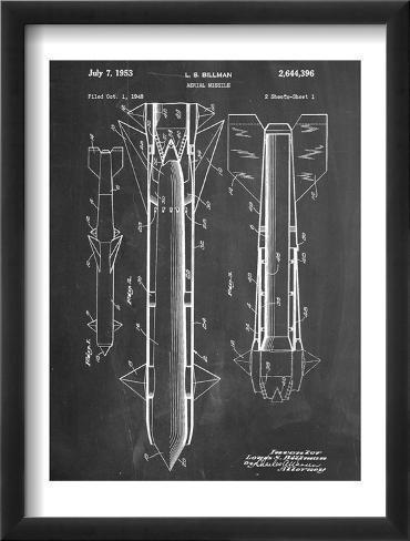 Aerial Missile Patent 1948 Framed Art Print