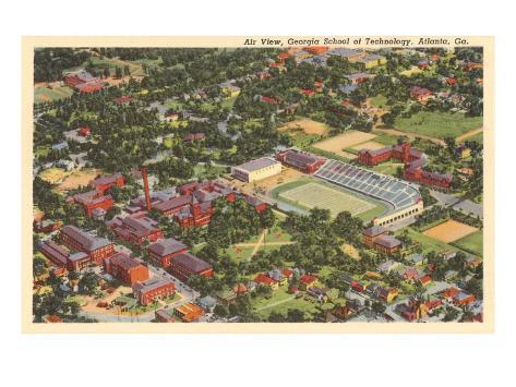 Aerial View, Georgia Tech, Atlanta, Georgia Art Print
