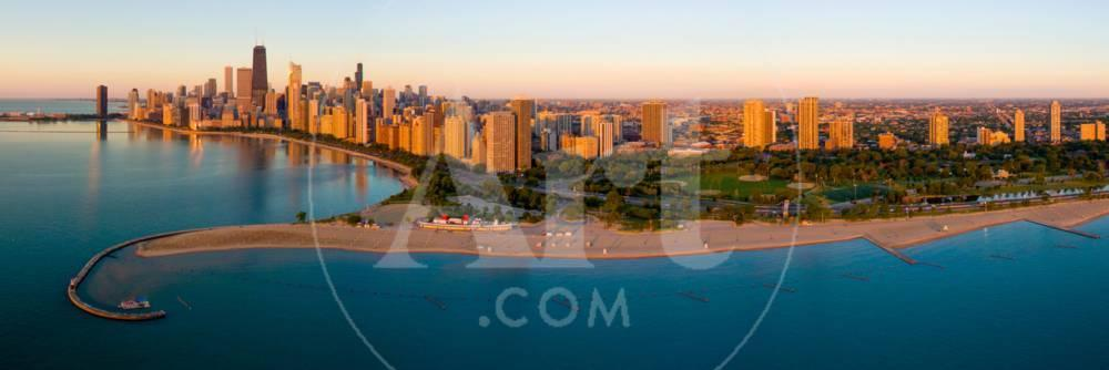 Aerial View Of North Avenue Beach And Lincoln Park Chicago Cook County Illinois Usa Photographic Print At Allposters