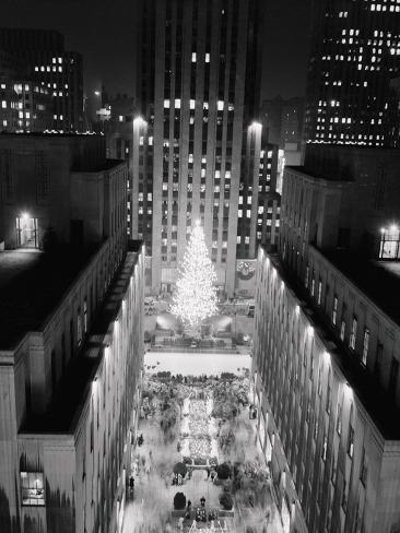 Aerial View of Rockefeller Center Christmas Tree Photographic Print