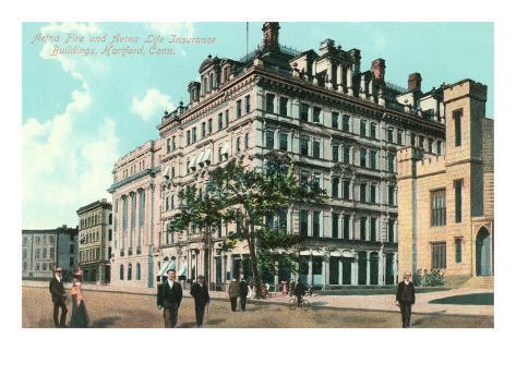 Aetna Insurance Buildings, Hartford, Connecticut Art Print