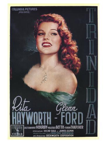 Affair in Trinidad, Italian Movie Poster, 1952 Art Print