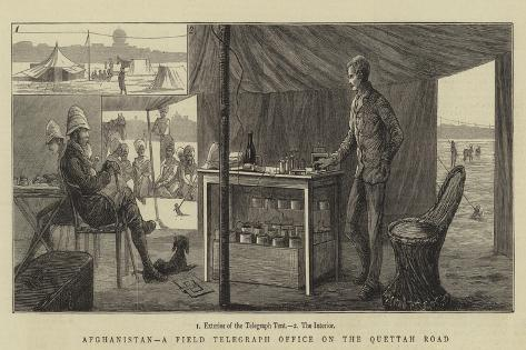 Afghanistan, a Field Telegraph Office on the Quettah Road Giclee Print