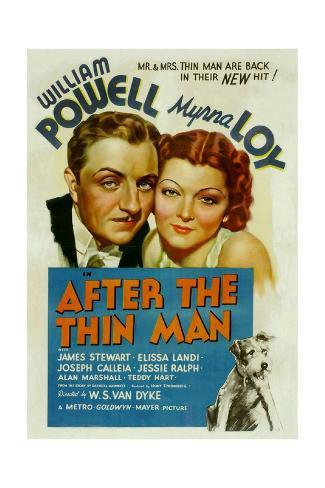 After the Thin Man, William Powell, Myrna Loy, Asta, 1936 ポスター