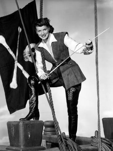 Against All Flags, Maureen O'Hara, 1952 Fotografia
