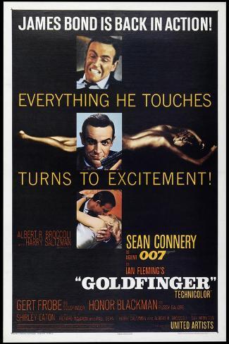 Agente 007, missione Goldfinger Stampa artistica