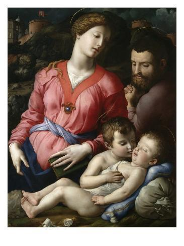 Holy Family with the Young Saint John Giclee Print