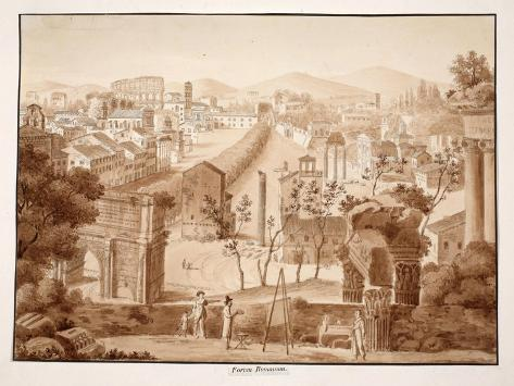 Forum Romanum, 1833 Giclee Print