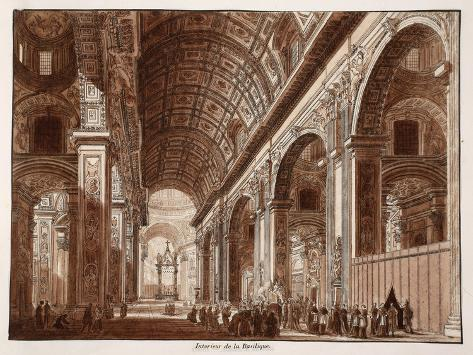 Interior of St. Peter's Basilica, 1833 Giclee Print