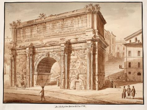 The Arch of Septimius Severus in the Year 1788, 1833 Giclee Print