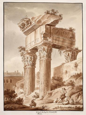 The Temple of Jupiter Tonans, Ruins, 1833 Giclee Print