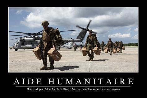 Aide humanitaire citation et affiche d 39 inspiration et motivation photographic print at for Poster et affiche