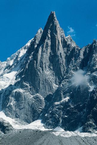 Aiguille du Dru Mont-Blanc Stretched Canvas Print