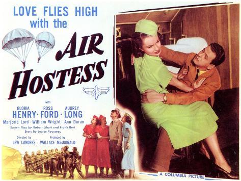 Air Hostess, 1949 Art Print
