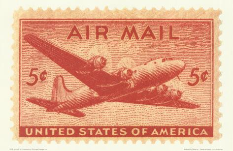 Air Mail Stamp Art Print