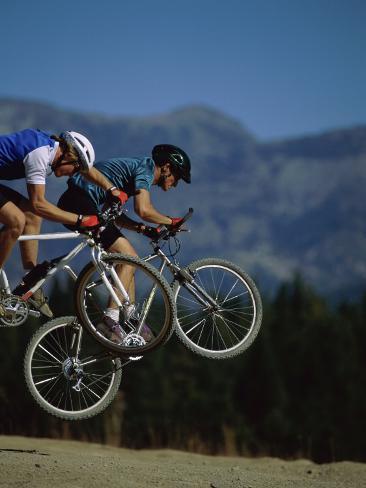 Airborne Mountain Bikes Photographic Print