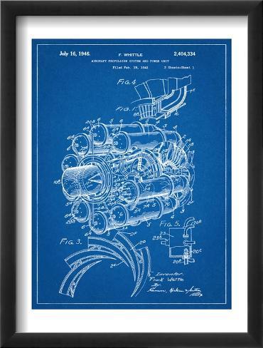 Aircraft Rocket Patent Framed Art Print