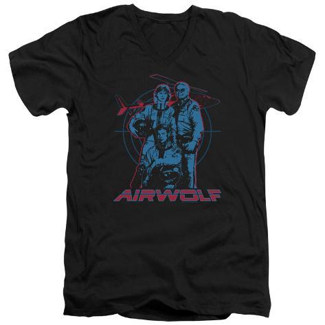 Airwolf - Graphic V-Neck V-Necks