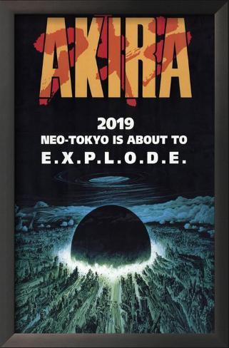 Akira Impressão artística emoldurada