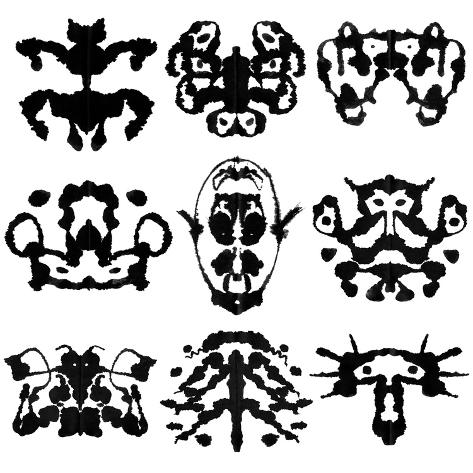 Nine Rorschach Test Art Print