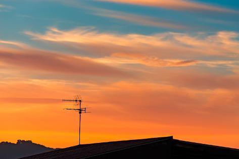 Antenna at Sunset Photographic Print