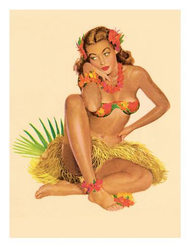 Hawaiian Pin-Up Girl, 1949 Giclee Print