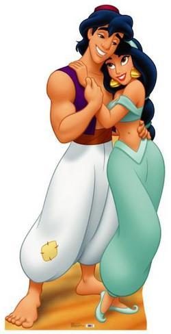 Aladdin and Jasmine Cardboard Cutouts