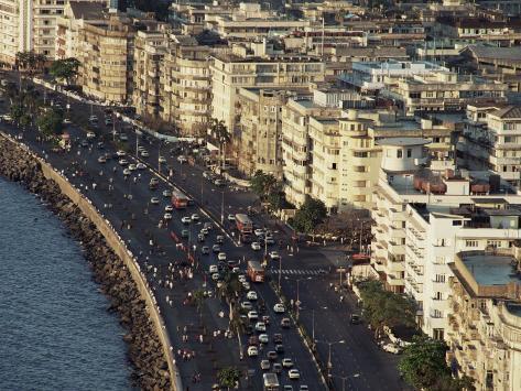 Marine Drive Bombay City Mumbai India Photographic