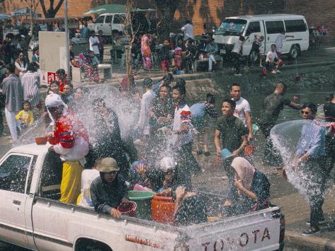 Songkran, Thai New Year, Water Festival, Chiang Mai, Thailand, Southeast Asia Photographic Print