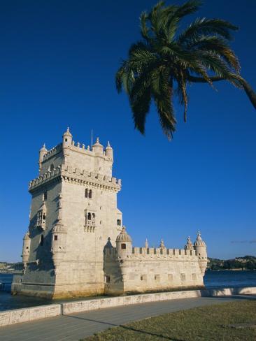 The 16th Century Belem Tower (Torre De Belem), Designed by Francisco Arruda, Lisbon, Portugal Photographic Print