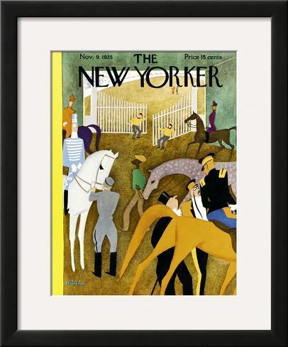 The New Yorker Cover - November 9, 1935 Framed Giclee Print